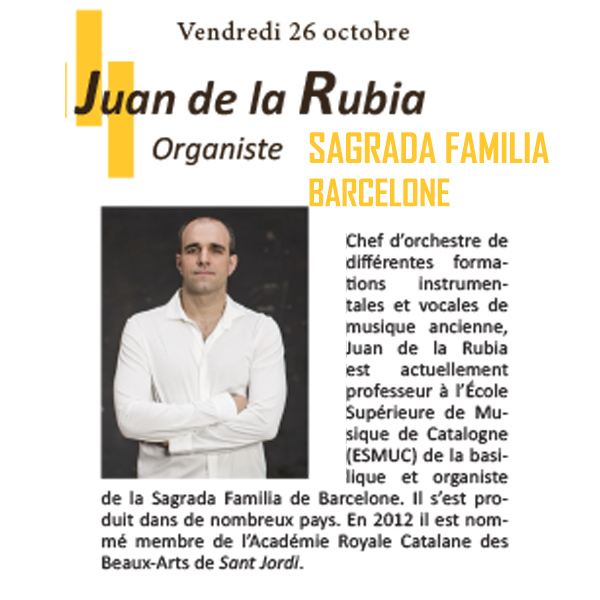 Juan de la Rubia Concert Orgue en Fête 2018