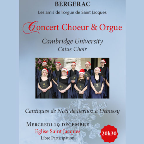 Concert Chœur et Orgue Cambridge University Caius Choir