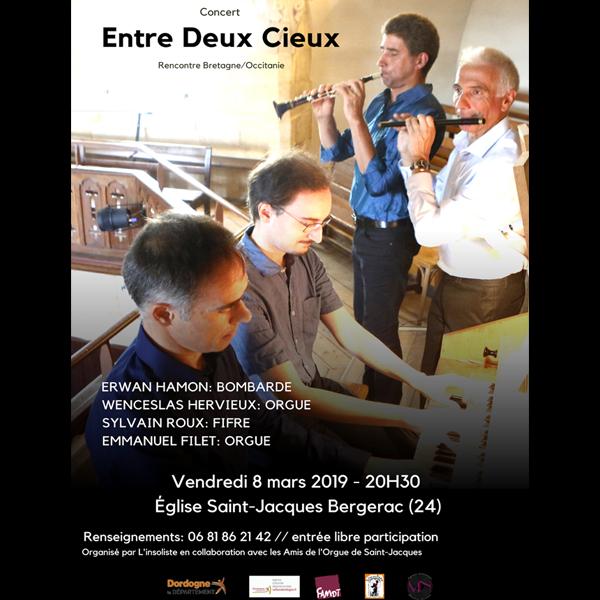 Concert Rencontre Bretagne/ Occitanie 08 Mars 2019 – Eglise Saint jacques-Bergerac
