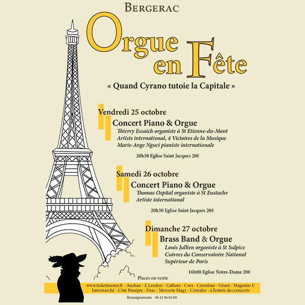 Cyrano tutoie la Capitale- Festival Orgue en fête