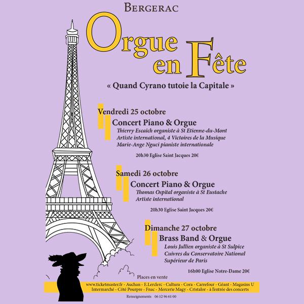 Festival Orgue en Fête Cyrano tutoie la Capitale