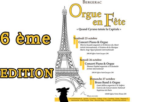 FESTIVAL « ORGUE EN FÊTE » 6ème Edition 25, 26, 27 Octobre 2019